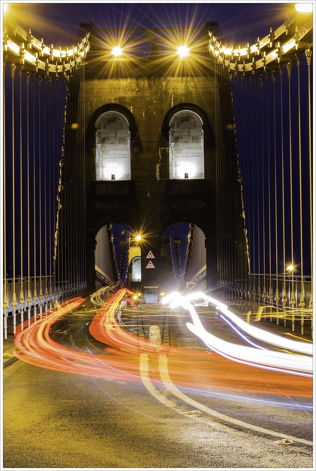2 Jill Thomas - Light Trails on the Menai  Bridge
