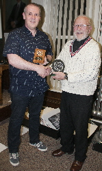 The Image Of The Year awarded to Iwan Williams  by Club President Bobby Haines