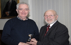 Ronnie Williams receiving the award for Best DPI in the Advanced Category from Club President Bobby Haines